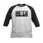 eat seep climb Kids Baseball Jersey