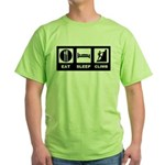 eat seep climb Green T-Shirt