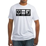 eat seep climb Fitted T-Shirt