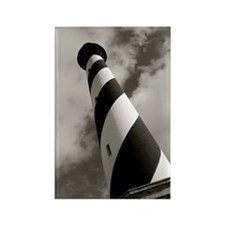Black and White Hatteras Rectangle Magnet