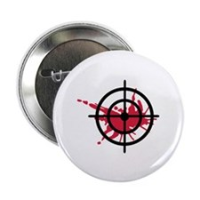"Crosshairs blood 2.25"" Button (10 pack)"