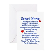 School Nurse Greeting Card