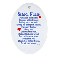 School Nurse Ornament (Oval)