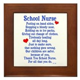 School Nurse Framed Tile