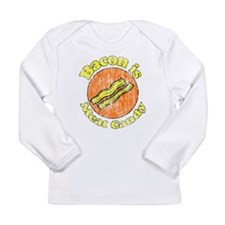 Vintage Bacon is Meat Candy Long Sleeve Infant T-S