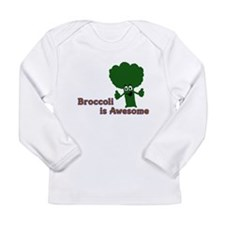 Broccoli is Awesome! Long Sleeve Infant T-Shirt