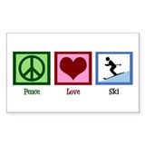 Peace Love Ski Decal