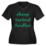 Sheep Testical Fondler Women's Plus Size V-Neck Da
