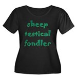 Sheep Testical Fondler Women's Plus Size Scoop Nec