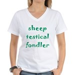 Sheep Testical Fondler Women's V-Neck T-Shirt