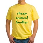 Sheep Testical Fondler Yellow T-Shirt
