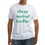 Sheep Testical Fondler Fitted T-Shirt
