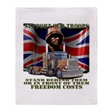 Support our British Troops Throw Blanket