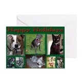 A Dog's Life Rescue Holiday C Greeting Card