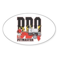 BBQ Pitmaster Sticker (Oval)