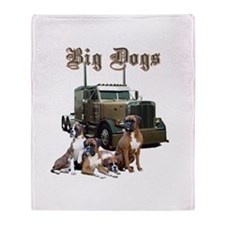 Big Dogs Throw Blanket