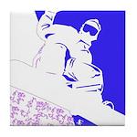 Snowboarding Pop Art Tile Coaster