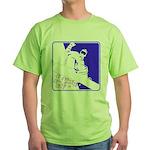 Snowboarding Pop Art Green T-Shirt
