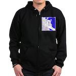 Snowboarding Pop Art Zip Hoodie (dark)