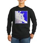 Snowboarding Pop Art Long Sleeve Dark T-Shirt