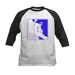 Snowboarding Pop Art Kids Baseball Jersey