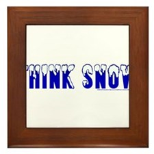 Think Snow Framed Tile
