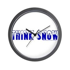 Think Snow Wall Clock