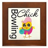 Bowling Chick Framed Tile