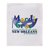 MG NOLA Pl Mk Lai Throw Blanket