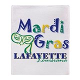 Mardi Gras Lafayette Throw Blanket
