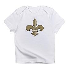 Fleur de lis black gold Infant T-Shirt