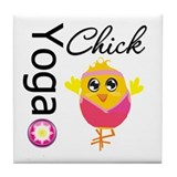 Yoga Chick Tile Coaster