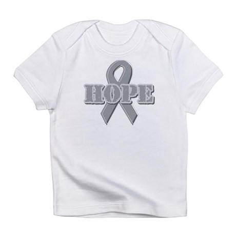 Silver Hope Ribbon Infant T-Shirt