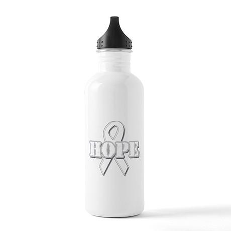 White Hope Ribbon Stainless Water Bottle 1.0L