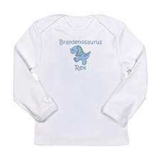 Mom, Dad, & Braydenosaurus Long Sleeve Infant