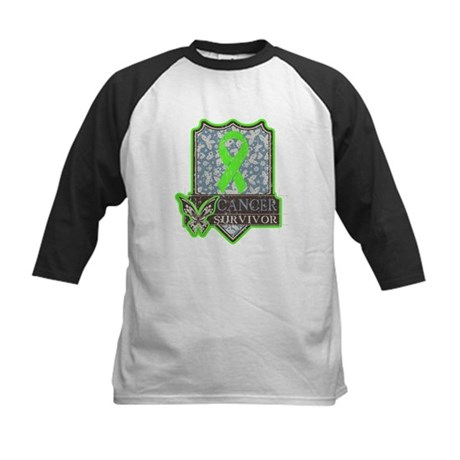 Lymphoma Cancer Survivor Kids Baseball Jersey