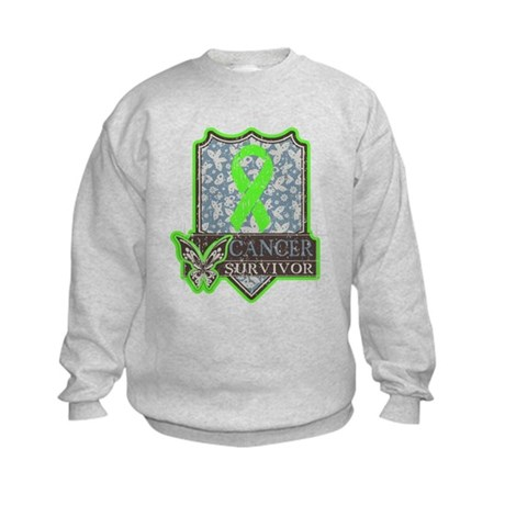 Lymphoma Cancer Survivor Kids Sweatshirt