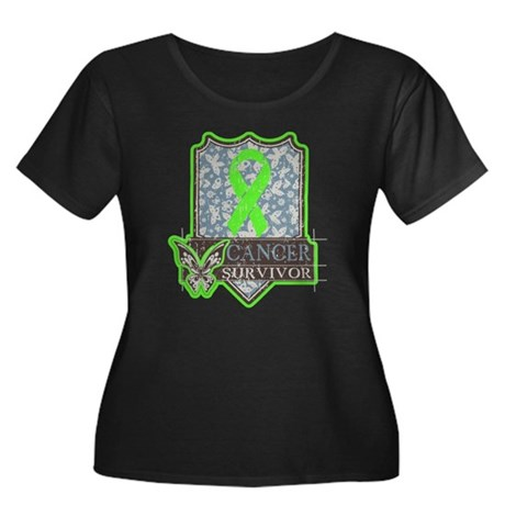 Lymphoma Cancer Survivor Women's Plus Size Scoop N