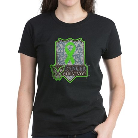 Lymphoma Cancer Survivor Women's Dark T-Shirt