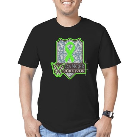 Lymphoma Cancer Survivor Men's Fitted T-Shirt (dar