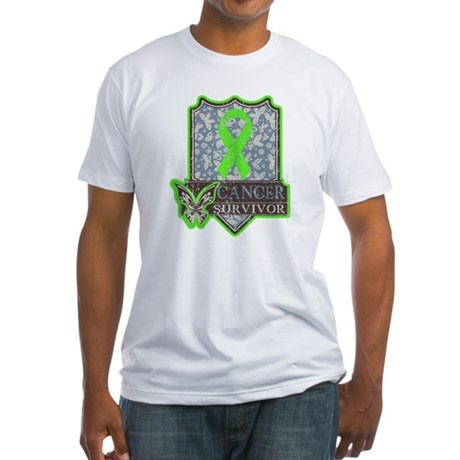 Lymphoma Cancer Survivor Fitted T-Shirt
