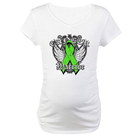 Lymphoma Cancer Warrior Maternity T-Shirt