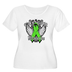 Lymphoma Cancer Warrior Women's Plus Size Scoop Ne