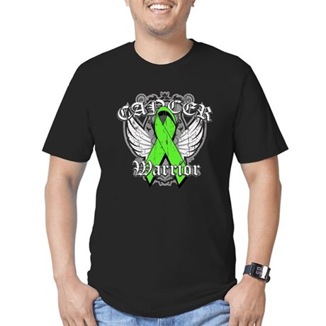 Lymphoma Cancer Warrior Men's Fitted T-Shirt (dark