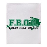 FROG Green Throw Blanket