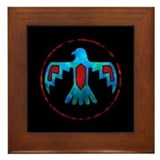 Blue &amp; Red Thunderbird Framed Tile