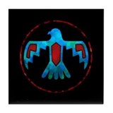 Blue & Red Thunderbird Tile Coaster