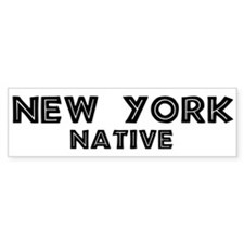 New York Native Bumper Bumper Sticker