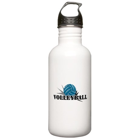 Volleyball starbust blue Stainless Water Bottle 1.