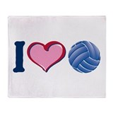 I Heart V-Ball Throw Blanket